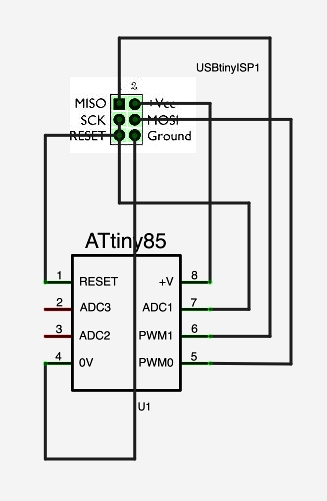 using usbtinyisp to program attiny45 and attiny85